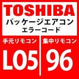東芝 パッケージエアコン エラーコード:LO5 / 96 優先室内重複(優先室内に表示)」 【インターフェイス基板】