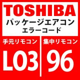 東芝 パッケージエアコン エラーコード:LO3 / 96 「室内親重複」 【室内機】